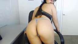Curvy Kawai kitty with sexy glasses and big tits gets cum