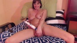 Tall long haired housewife Sterling is ready to cum