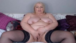 Curvaceous old UK MILF with 38F tits pounds creamy cunt
