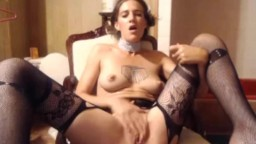 Skinful brunette surrender with sexy voice and perky tits