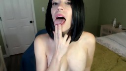 Hot brunette cowgirl Seriah with hard nipples gets cum