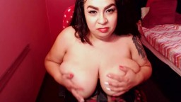 Slutty talking moaning busty Julez Maria rubbing fat cunt