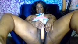 Dirty talking ebony bad at luv with sexy legs gets orgasm