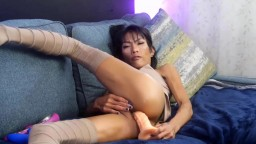 Skinny sexy Asian mom Ravena Rey getting fucked tight ass