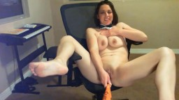 Lustful kitty Amoureuse gets pounded with a baseball bat