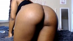 Pretty ebony princess Bratty with twerking ass masturbates