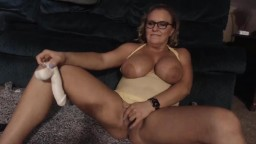 Busty blonde housewife Chrissy Monroe gets a real orgasm