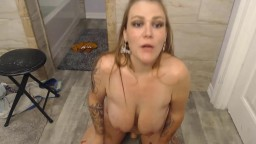 Boobalicious blonde sexy lady Carmen riding a great dildo