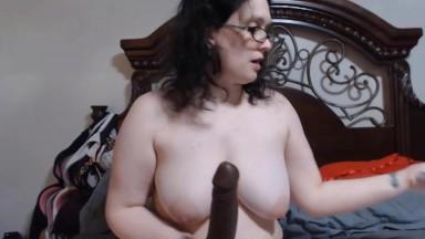 Smart big tit fattie Nola pound her cunt til she squirts