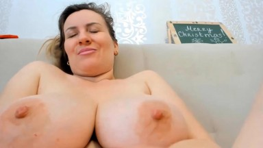 Busty dream of desire squirts all over her tight wet pussy