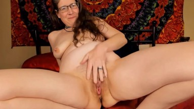 Naughty hairy MILF сosmic spark invites you into her world