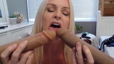 Friendly blonde MILF Kelly Collins loves kinky role play