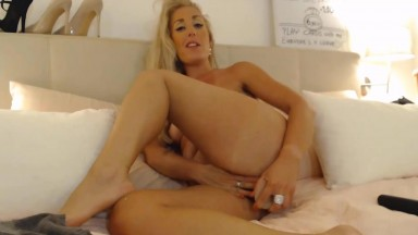 Luscious blonde Lisa driving you crazy and making you cum