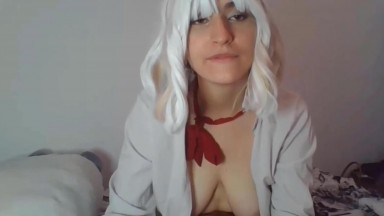 French doll Ahegao driving you crazy and making you cum