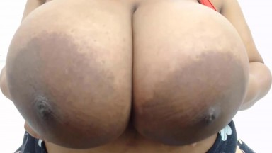 African naughty gal assures you'll love that huge jugs 40dd
