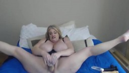 Chubby MILF Zoey Andrews fucks huge tits and both holes