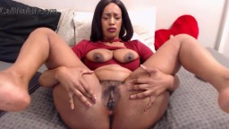Oiled booty black goddess Leo with big tits pounds holes