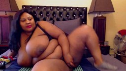 Mind blowing black BBW mama with monster tits to die for
