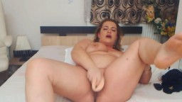 Curvy MILF Lorraine with huge tits moaning while gets cum